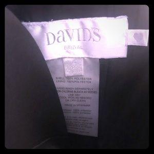 David's Bridal: size 4 black dress